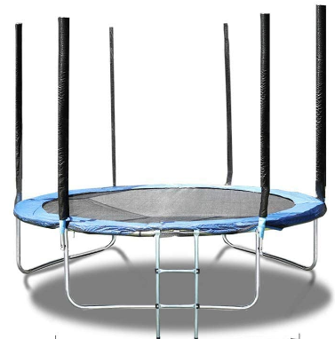 Trampoline 10 12 14 15 FT with Safety Enclosure Net and Ladder, Outdoor Recreational Trampoline for Kids Toddler Adult and Family, Outdoor Backyard Bounce Jump Fun