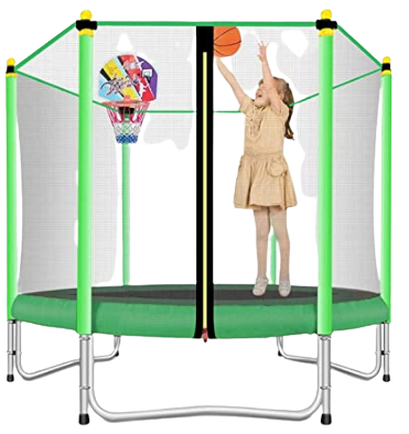 Lovely Snail 5FT Trampoline with Safety Enclosure Net