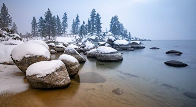 Snow on the beach