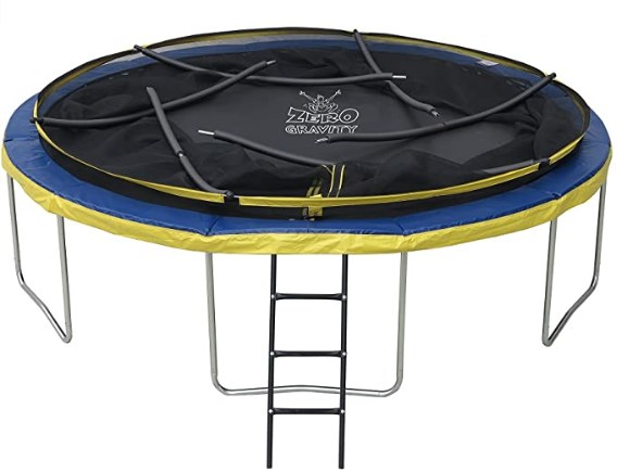ZERO GRAVITY 6ft / 8ft / 10ft / 12ft / 14ft Ultima 4 High Spec Trampoline with Safety Enclosure Netting and Ladder