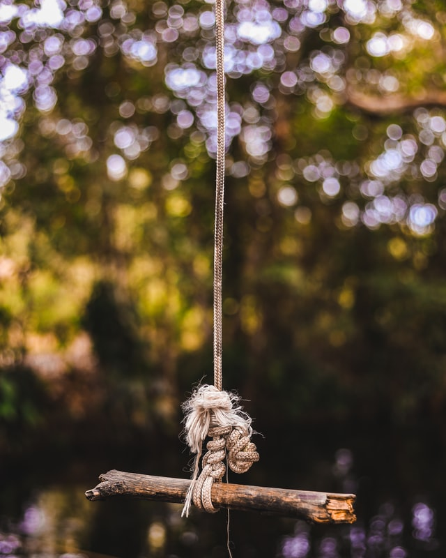 Best Way to Hang Single Rope Tree Swing by Double bowline knot